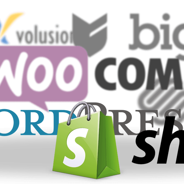Logos of just a few of the eCommerce platforms available today