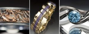 Three Custom Rings by Christopher Taylor Timberlake Fine Art Jewelry