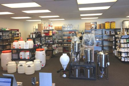 Quirky Homebrew's crowded—and comprehensive—retail store.